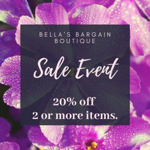 *ENDED*   SALE EVENT ! 20% OFF 2 OR MORE ITEMS !
